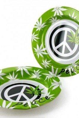 Aluminium Asbak Peace