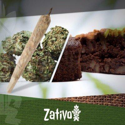 Het verschil tussen het eten en roken van cannabis